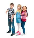 3 усмехаясь маленьких дет стоя совместно Стоковая Фотография RF