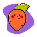 Усмехаясь морковь иллюстрация вектора