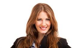 Усмехаясь молодой женский портрет менеджера Стоковое Фото