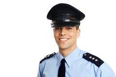 Усмехаясь молодой полицейский Стоковые Фотографии RF