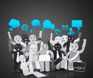 Усмехаясь объект для символа сети social дела Стоковые Фотографии RF