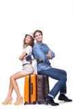 Усмехаясь пара готова путешествовать Стоковая Фотография RF