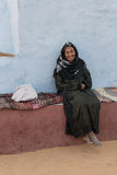Усмехаясь пожилые женщины в деревне Асуане Египте Nubian Стоковое Фото