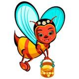 Усмехаясь пчела летания Стоковая Фотография