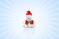 Усмехаясь родовая игрушка снеговика рождества Стоковое Фото
