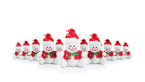 Усмехаясь родовая игрушка снеговика рождества Стоковое Изображение