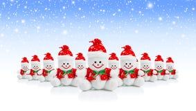 Усмехаясь родовая игрушка снеговика рождества Стоковые Фотографии RF