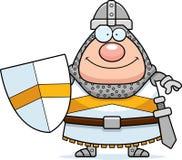 Усмехаясь рыцарь шаржа иллюстрация штока