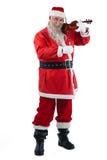 Усмехаясь Санта Клаус играя скрипку Стоковые Фото