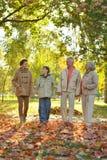 Усмехаясь семья ослабляя Стоковое Фото