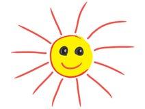 Усмехаясь солнце счастливое солнце Солнце иллюстрация вектора