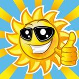 Усмехаясь солнце Стоковое Изображение