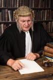 Усмехаясь старый судья Стоковое фото RF