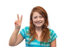 Усмехаясь счастливая женщина Стоковые Изображения RF