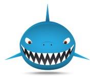 Усмехаясь тучная акула, шарж Стоковое Изображение RF