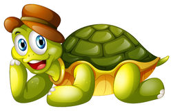 Усмехаясь черепаха лежа вниз Стоковые Фото