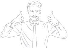 Усмехаясь человек в связи и рубашке Стоковая Фотография