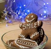 Усмехаясь человек пряника Стоковое Фото