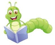 Усмехаясь чтение глиста Стоковое Изображение