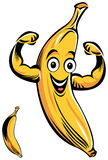 Усмехаясь шарж банана Стоковые Изображения RF