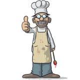 Усмехаясь шеф-повар с большим пальцем руки вверх бесплатная иллюстрация