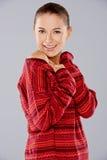 Усмехаясь шикарная молодая женщина Стоковые Фото