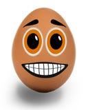 Усмехаясь яичко стоковые изображения