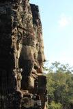 Усмехаясь Buddhas, Angkor Thom стоковое изображение rf