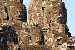 Усмехаясь Buddhas, Angkor Thom стоковое фото rf