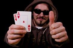 Усмешка игрока покера. Стоковое Изображение