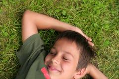 усмешка мальчика Стоковые Изображения RF