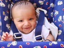 усмешка младенца индийская Стоковая Фотография