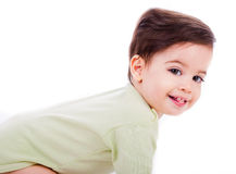 усмешка младенца кавказская Стоковые Фото