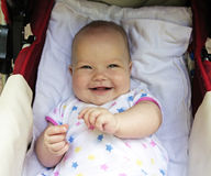 усмешка младенца Стоковое Изображение RF