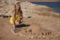 усмешка пляжа Стоковые Изображения