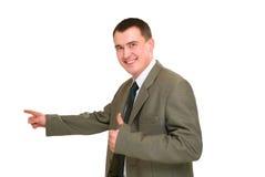 усмешка указанная бизнесменом Стоковые Изображения