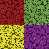 усмешка цвета 4 безшовная Стоковое Изображение