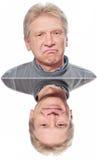 усмешка человека унылая Стоковые Фотографии RF