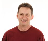 усмешка человека Стоковая Фотография