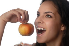 усмешка яблока Стоковое Изображение