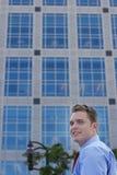 усмешки бизнесмена Стоковое фото RF