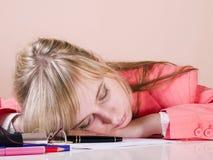 уснувшие женщины падения Стоковая Фотография