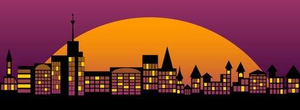 уснувший город Стоковая Фотография