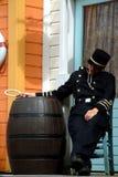 уснувший офицер Стоковые Изображения RF