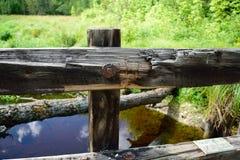 Усовик деревянного моста Стоковая Фотография RF