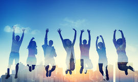 Успеха команды подростка разнообразия концепция вскользь выигрывая Стоковые Фото