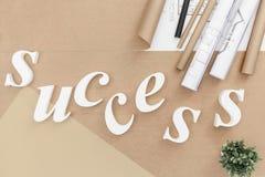 Успех - белые письма Стоковые Фотографии RF