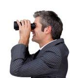 Успех бизнесмена предсказывая будущий Стоковые Фотографии RF