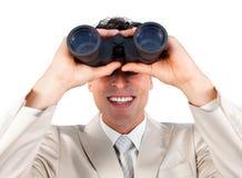 Успех воображаемого бизнесмена предсказывая будущий Стоковые Фотографии RF