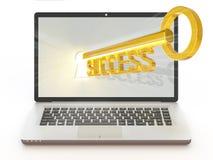 Успех в онлайн деле Стоковое Изображение RF